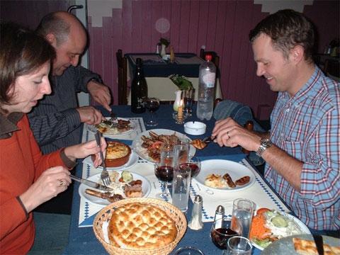 was er een dinner bij onze Turkse vrienden